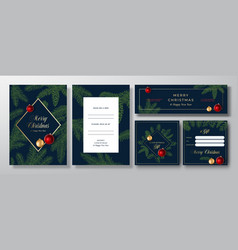 Christmas abstract invitation cards vector