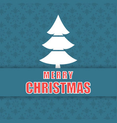 christmas pattern background and tree vector image