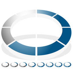 Circular preloader progress indicator icon w 8 vector