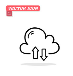 cloud sync icon white background ima vector image