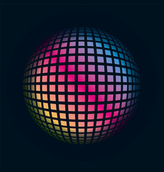 Colored grids spherical 3d background pattern vector