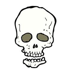 comic cartoon skull vector image
