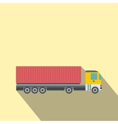 Container at the dock with truck flat vector image