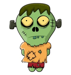 Cute Zombie Frankenstein for Halloween vector
