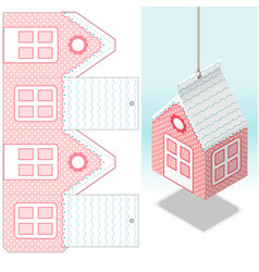 decorativehanging paper house decoration real vector image