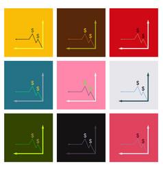 Digital analytics concept data visualization vector