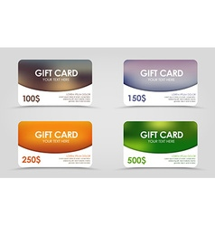 Discount card with a blurred background vector image
