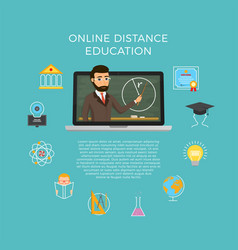 Distance education learning the student listens vector