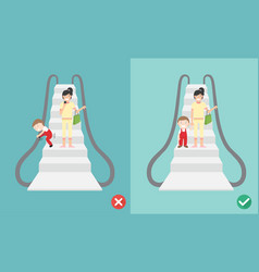 Do and don escalator safety vector