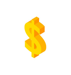 dollar isometric object vector image