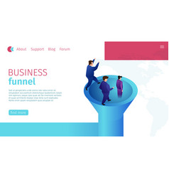 Flat banner timely business funnel definition vector
