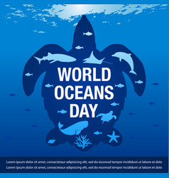 for world ocean day banner vector image
