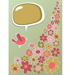 Fresh social media bird communication vector image vector image