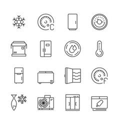 fridges icon freezer commercial cold compact home vector image