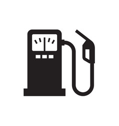 fuel - black icon on white background vector image