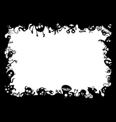 Funny monsters frame vector