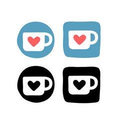 Hand drawn social media icons actual object in vector