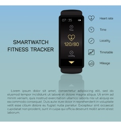 Health care bracelet hand heart rate time vector