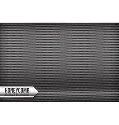 Honeycomb chrome and grey abstract background vector