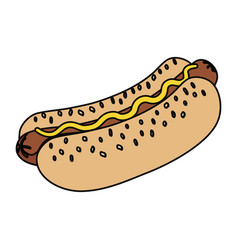 Hot dog fast food vector