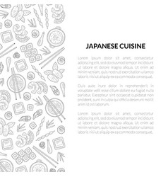 japanese cuisine banner template with place for vector image