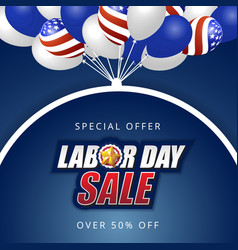 labor day sale background design vector image