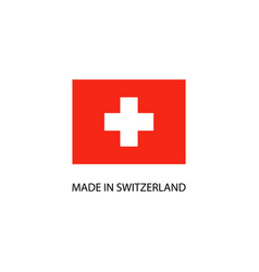 made in switzerland sign vector image
