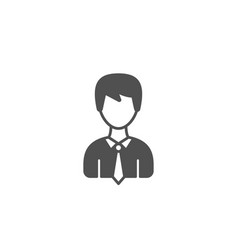 male user simple icon male profile sign vector image