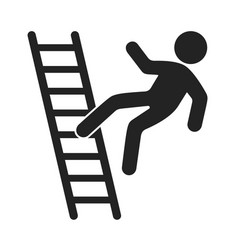man falling from stairs accident and failure vector image