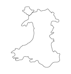 Map wales vector