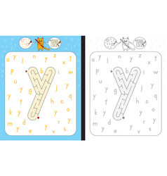 maze letter y vector image