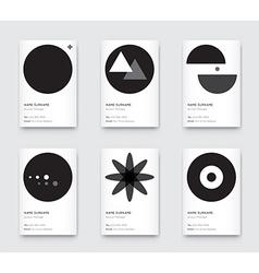 Minimal Propaedeutics Black and White Graphic vector