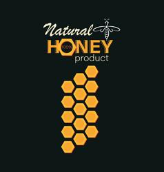 Natural honey emblem label business card vector