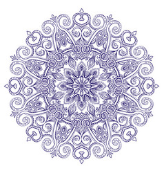 New round mandala-03 vector