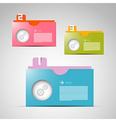 Paper Progress Steps for Tutorial Infographics vector