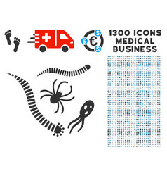 parasites icon with 1300 medical business icons vector image