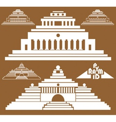 Pyramid on brown background vector