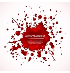 Red blood splash abstract background vector