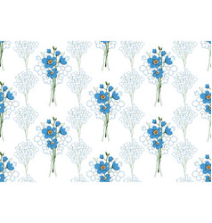 Seamless pattern flowers forget-me vector