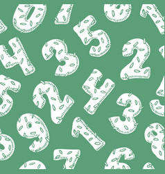 seamless pattern with white numbers in donut style vector image