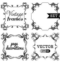 set 1 Ornate vintage frames vector image