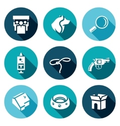 Set of Animal Protection Icons Protest vector image