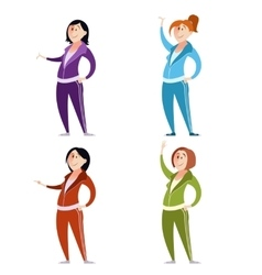 Set of sport suit women vector image