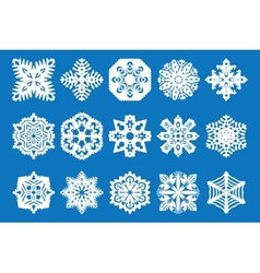 snowflake icon set - vector image