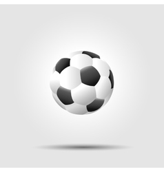 Soccer football ball on white background with vector image