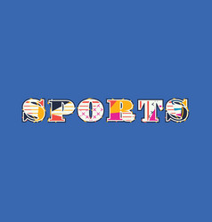 Sports concept word art vector