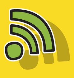 Sticker wifi signal vector