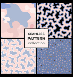 Stylish abstract seamless patterns collection vector