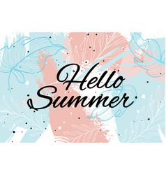 summer background cool modern leaves and vector image