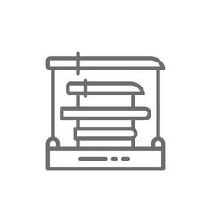 swords rack samurai katana line icon vector image
